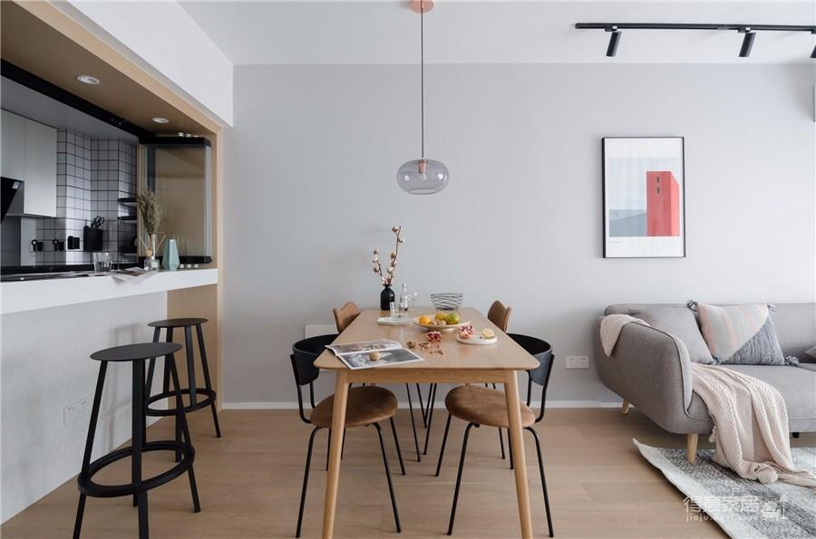 130平三居室北欧风格图_6