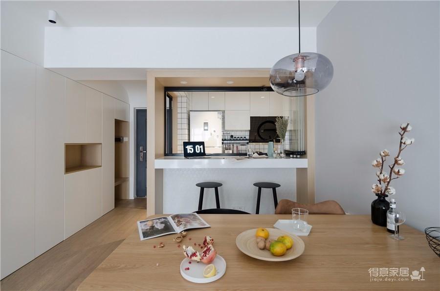 130平三居室北欧风格图_5