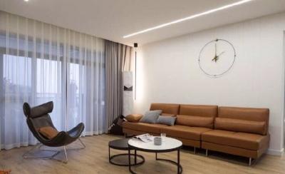 120㎡现代简约,开放空间增加情感交流,让彼此在家的时光都能放松融洽