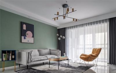 128平三居室现代风格
