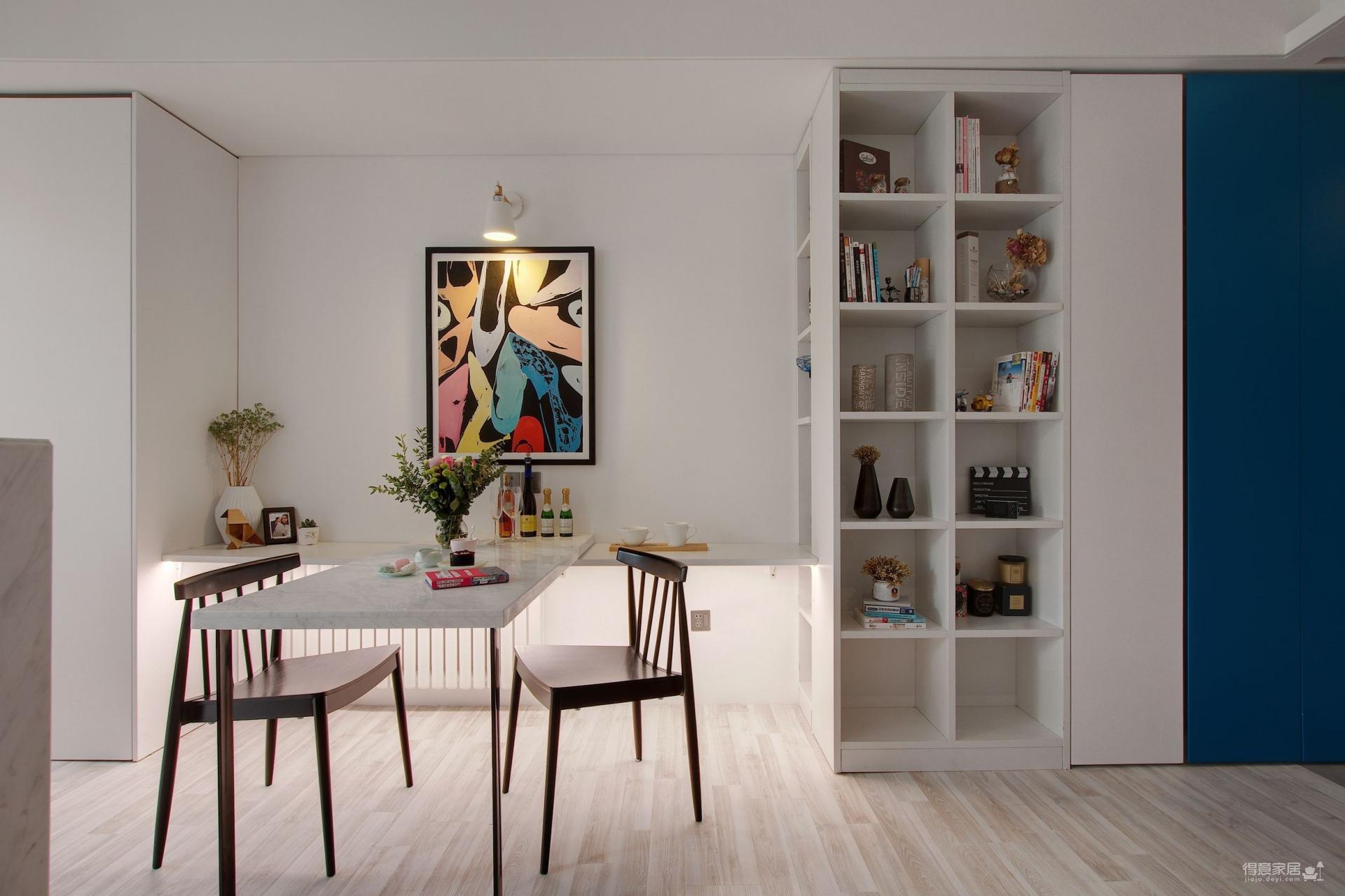 55平一室一厅,最大化储物空间