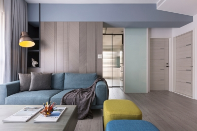 82平两室一厅现代原木之家