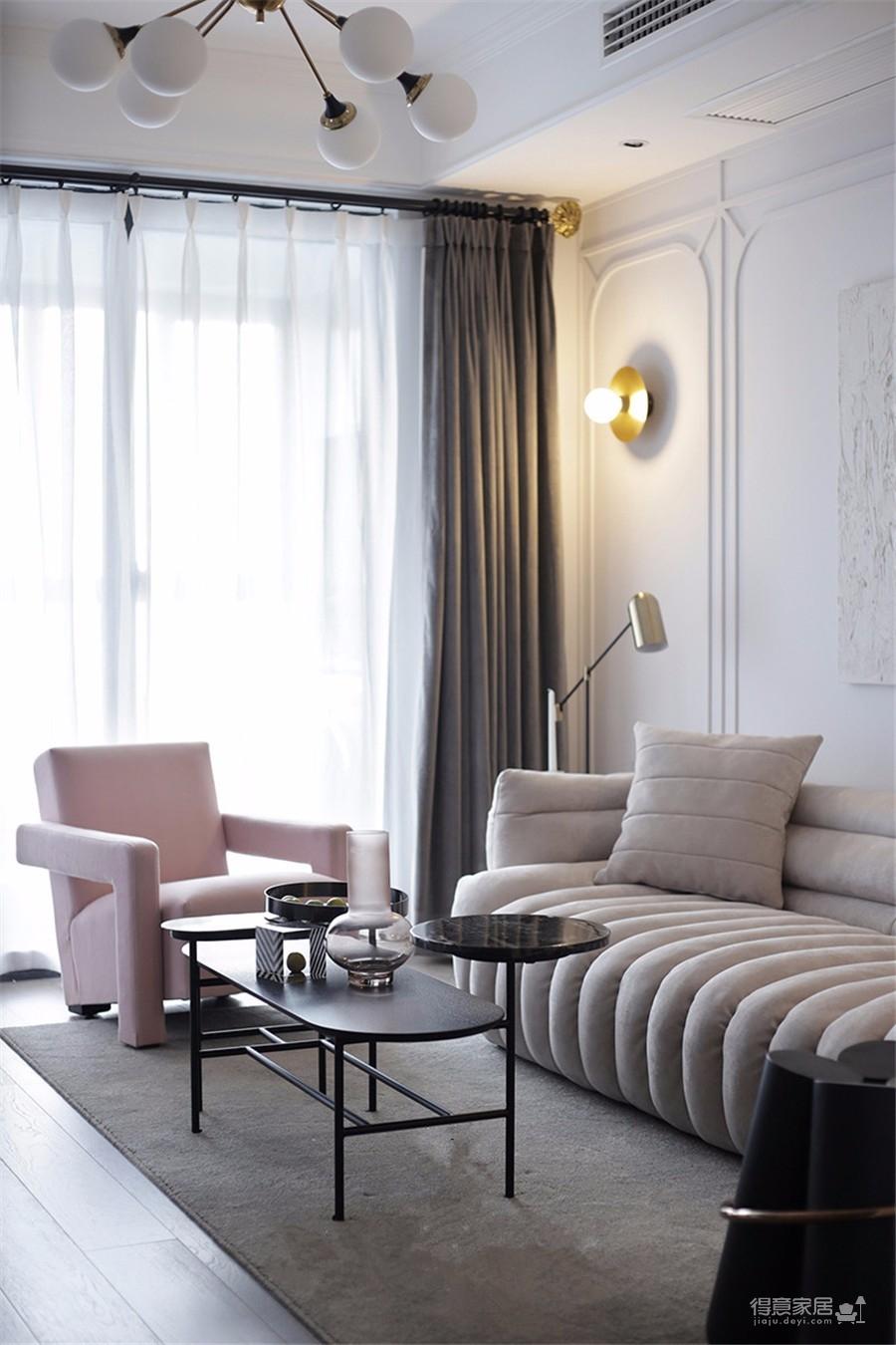 98平三居室美式轻奢风格
