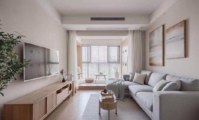 70平原木风格的装修设计,整个房子也很有舒适感,轻轻柔柔让人一回家就能很放松