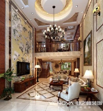 世茂龙湾290平-美式风格