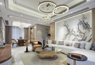 270m²现代轻奢, 东方美学融入现代生活