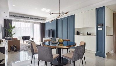 110㎡现代轻奢风格家居装修,一个精致而时尚的爱家