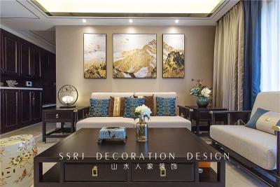 广电兰亭时代140平三室两厅中式