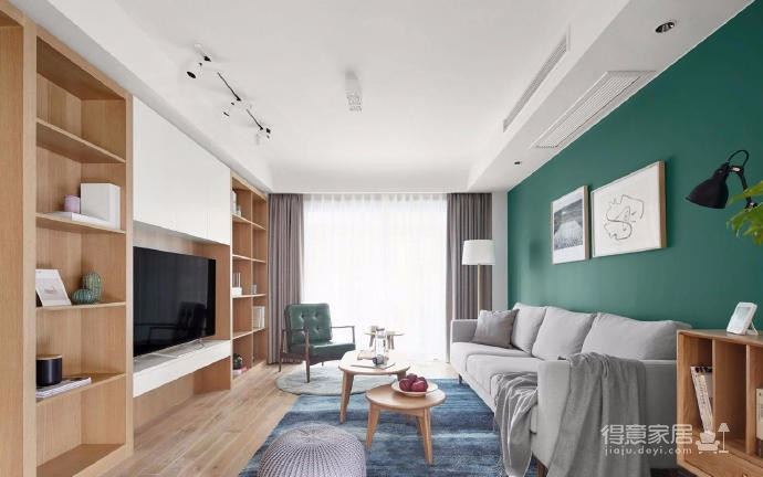 设计风格定义为现代风,空间色调以原木为主调,在深与浅的碰撞之中,空间氛围精致、沉稳却不失居家的生活气息,满足屋主多样化的生活需求