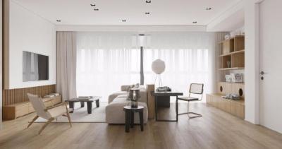 120㎡现代 原木三居室设计