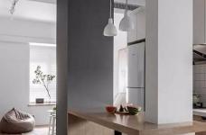60㎡舒适北欧风格新房装修,餐厨区太棒了图_6