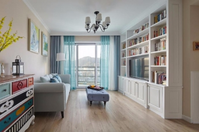 96㎡混搭 简美三居室设计。