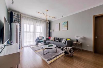 94㎡舒适北欧3室2厅 气质出众的温暖美家!