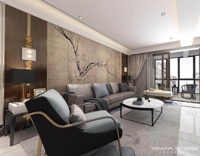 华润中央公园135平-新中式风格设计