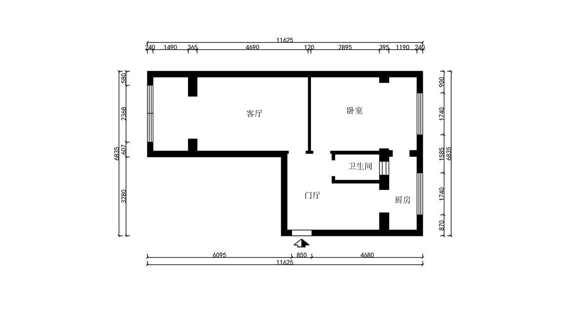 东风阳光城67平-现代风格