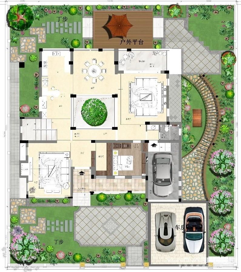 保利十二橡树庄园别墅-美式风格
