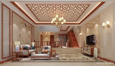 水岸星城别墅-新中式风格