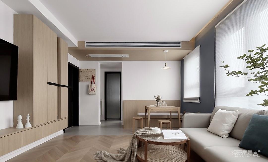 76㎡日式MUJI风2室1厅,慵懒而随性的舒适生活