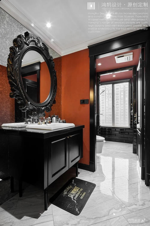 RED | 设计师自己的家,红与黑的冲突视觉,刻画古典与现代的张力