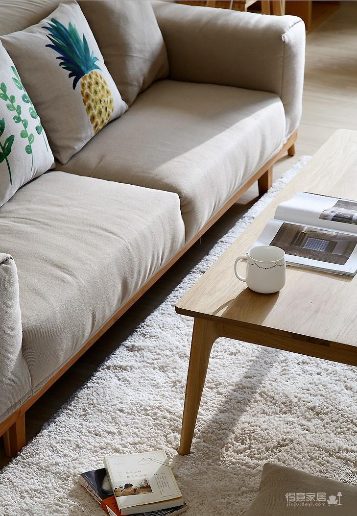 日式风3室2厅装修风格设计,室内装修清新淡雅的暖心之家