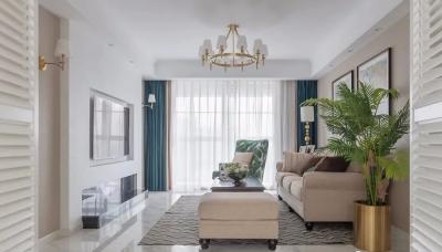 140㎡现代美式四居室,莫兰迪色+轻奢元素,轻盈优雅的暖心之家!