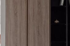 同步挥别浓郁且深沉的色系,以素雅灰调铺展于硬件与家具之间,奠定简静基底,巧妙植入水墨质感磁砖薄板,框构一幅内敛且禅意的张力端景图_2