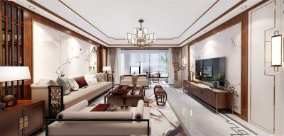 百步亭现代城153平-新中式风格