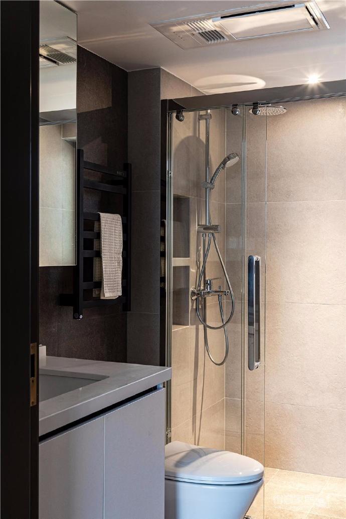 87㎡现代简约两居室设计图_12