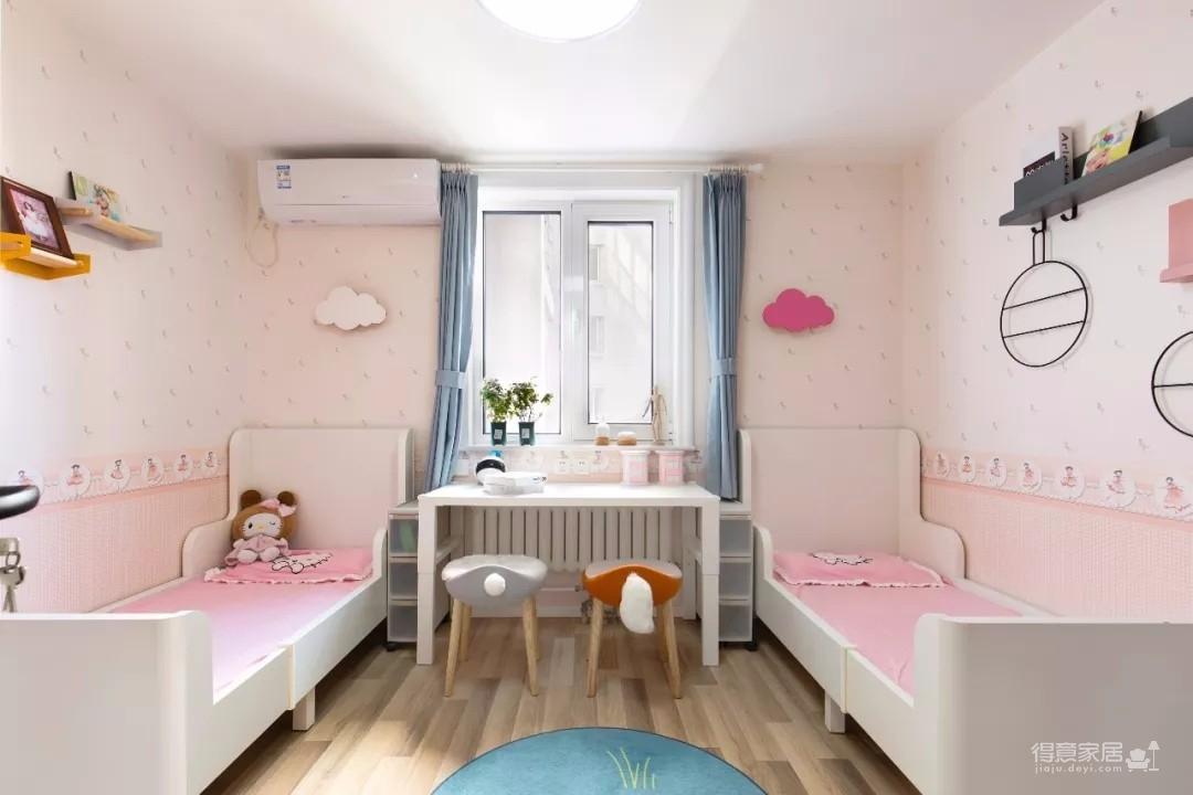80㎡舒适北欧风格,最喜欢他家的榻榻米阳台和双子儿童房!