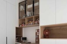 64㎡简约风小户型,电视墙收纳、厨房门改向,昏暗客厅变通透图_4