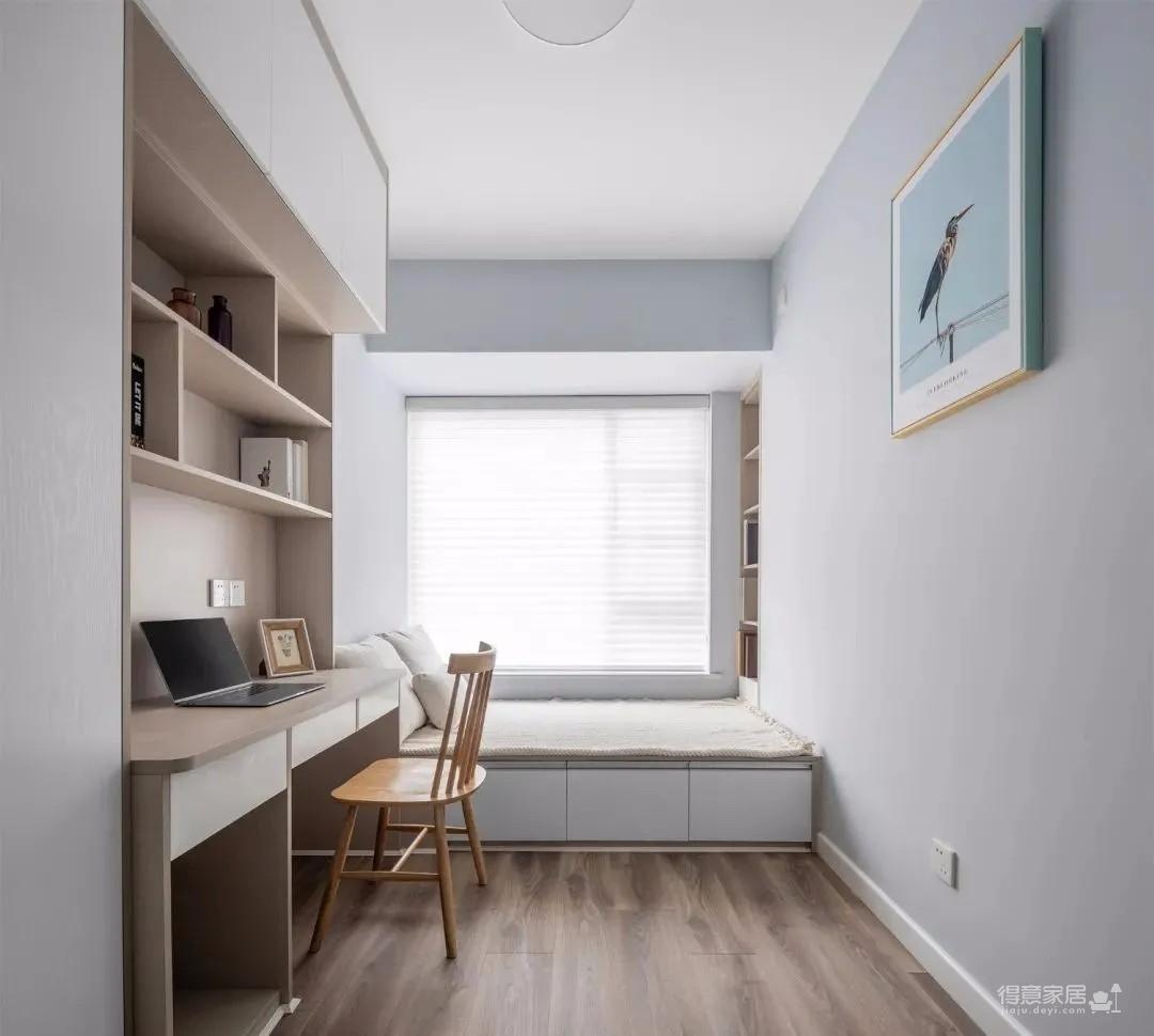 75㎡2室2厅,进门整墙都是柜,从门口美到卧室!图_11