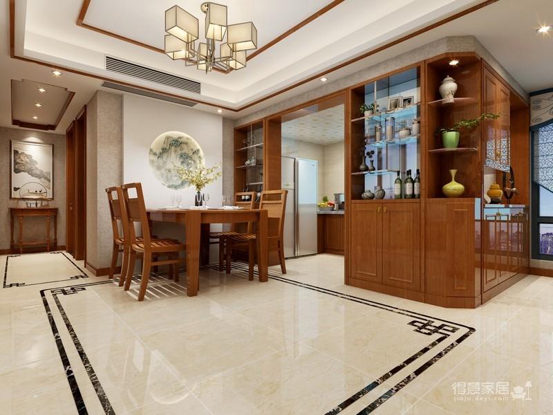 135平三室两厅新中式风