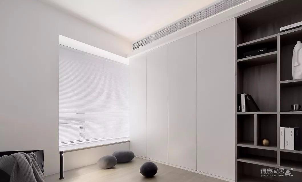 93㎡现代主义3室2厅,玻璃隔断让视觉感翻倍!图_4