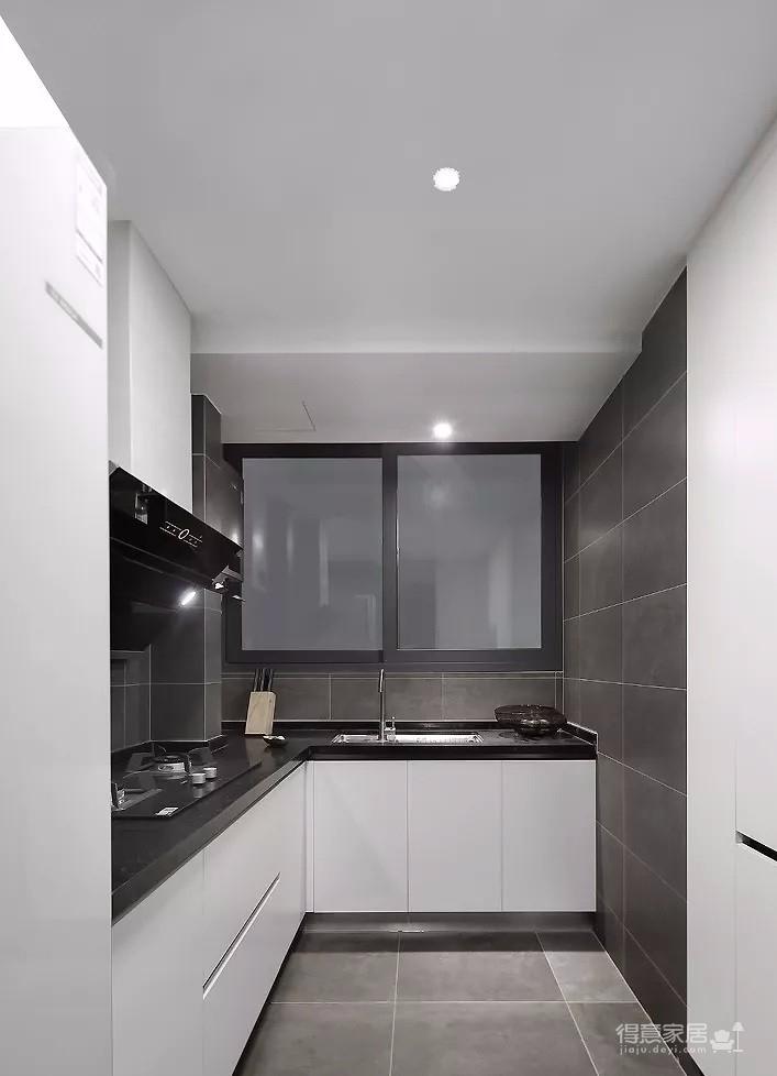 93㎡现代主义3室2厅,玻璃隔断让视觉感翻倍!图_6