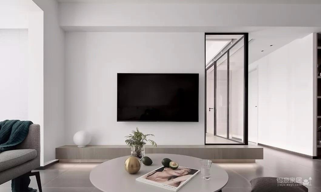 93㎡现代主义3室2厅,玻璃隔断让视觉感翻倍!