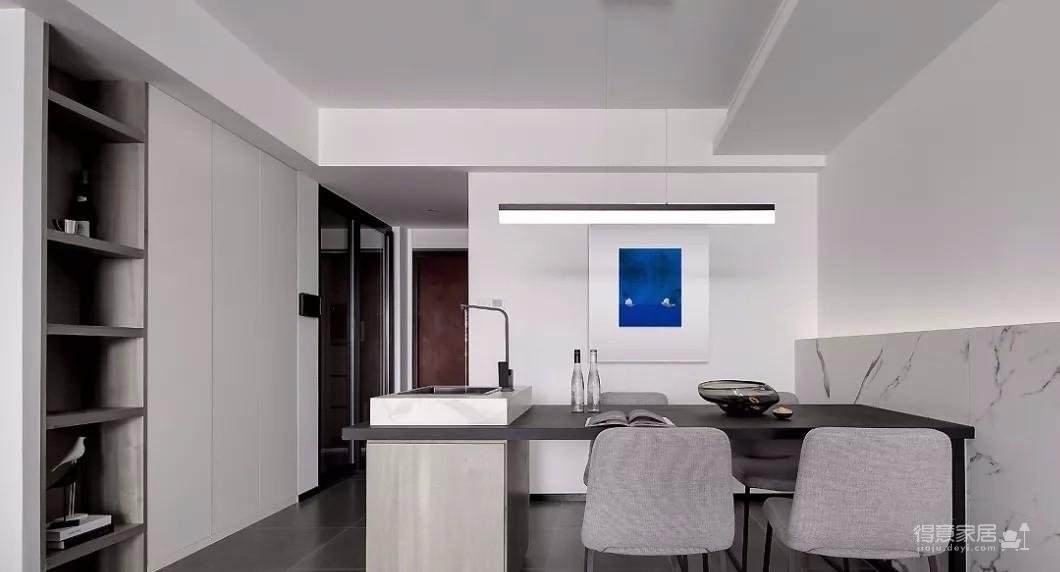 93㎡现代主义3室2厅,玻璃隔断让视觉感翻倍!图_5
