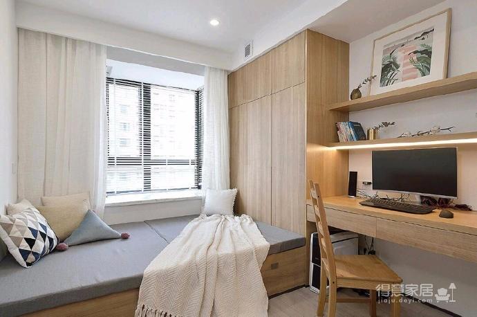 简洁的北欧。白色的墙面、灰黑的家饰、搭配上木质的地板,让生冷的色系,调和出温馨的气氛图_5