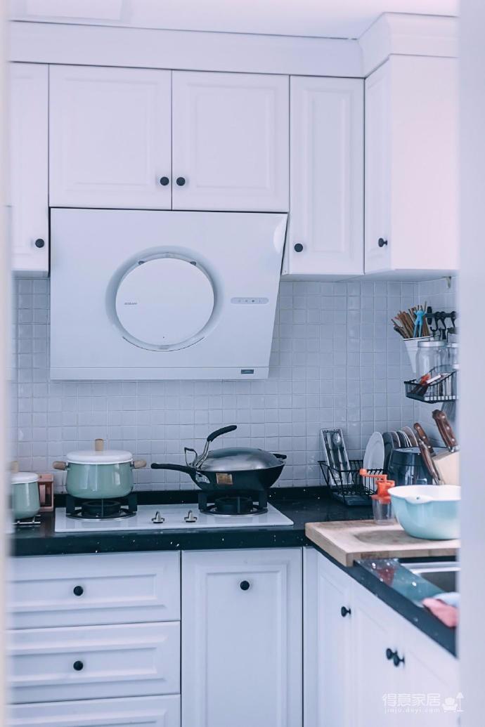 80㎡浪漫蓝色调美式风格两居室设计图_5
