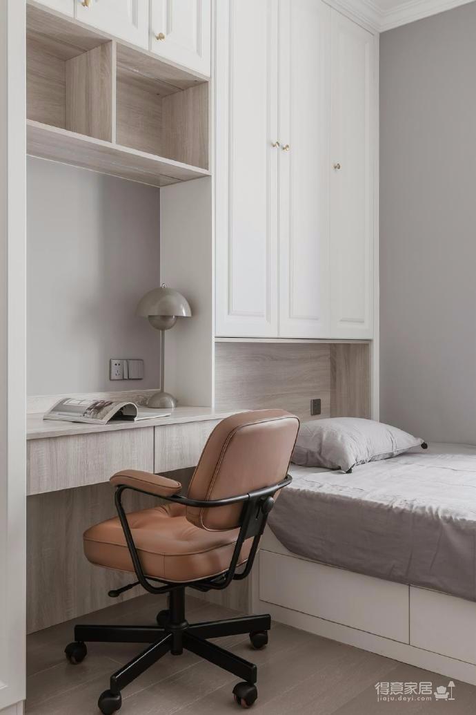 88㎡美式 北欧风格三居室设计图_3