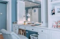 80㎡浪漫蓝色调美式风格两居室设计图_7
