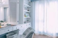 80㎡浪漫蓝色调美式风格两居室设计图_8