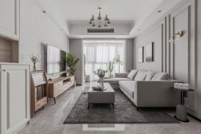 88㎡美式 北欧风格三居室设计