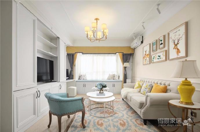 80㎡美式轻奢两居室风格设计图_1