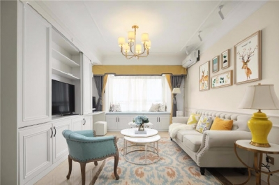 80㎡美式轻奢两居室风格设计