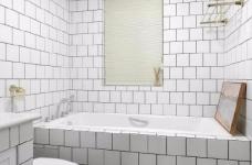 这是一套以白色调为主的北欧风案例,墙、顶面都保留为干净的本白,顶面增加了一些复杂精美的石膏花线装饰,营造出清透自然的北欧风情图_8