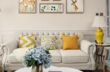 80㎡美式轻奢两居室风格设计图_2