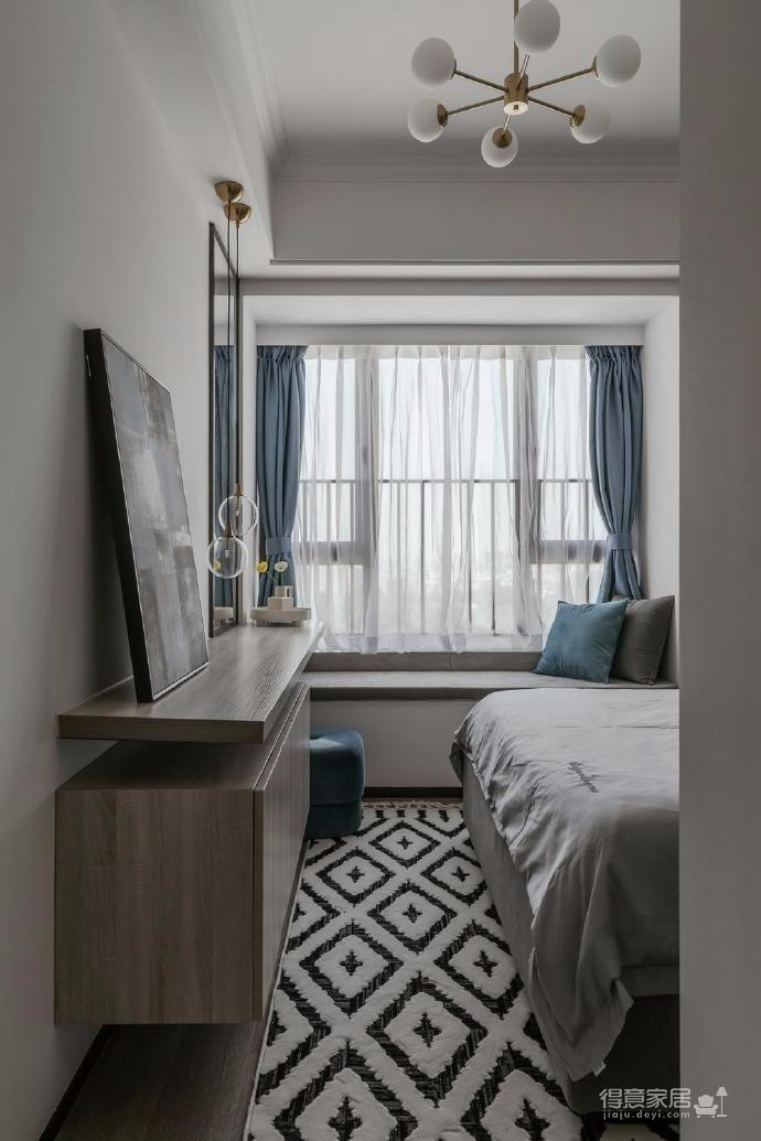 88㎡美式 北欧风格三居室设计图_4