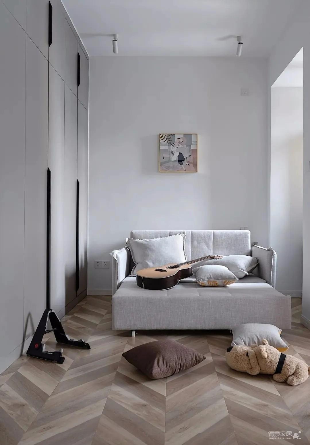 两居室改成主卧+衣帽间+休闲室的套间,住起来太爽了!图_14