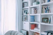 80㎡浪漫蓝色调美式风格两居室设计图_9