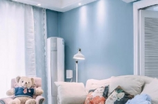80㎡浪漫蓝色调美式风格两居室设计图_2